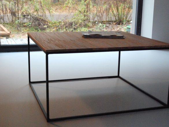 Kvadrat staliukas, žurnalinis staliukas, kavos staliukas, metalinis rėmas