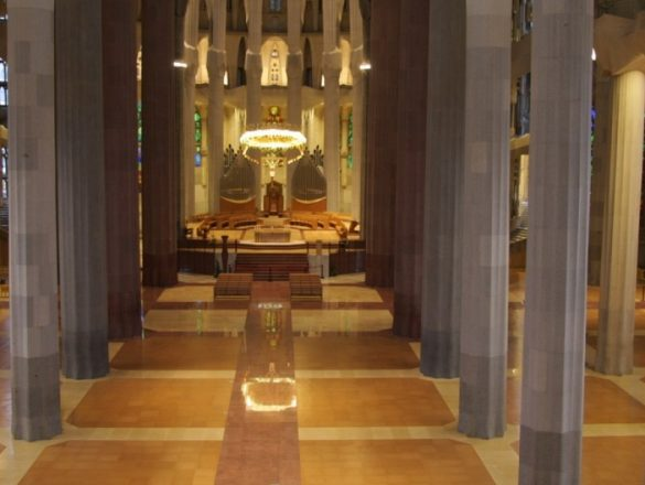 Kamštinės grindys Sagrada Familia katedroje Barselona