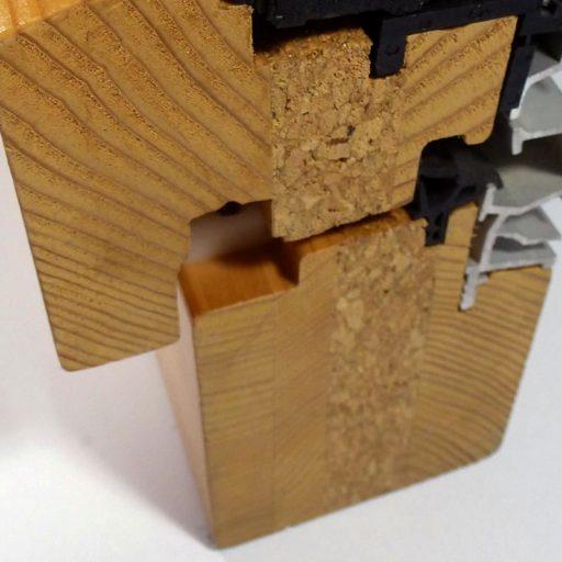 Techninis kamštis langu konstrukcijoje