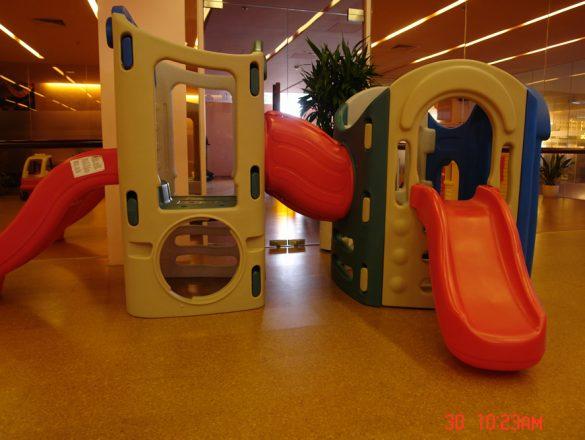 Kamštinės grindys -vaikų darželyje-