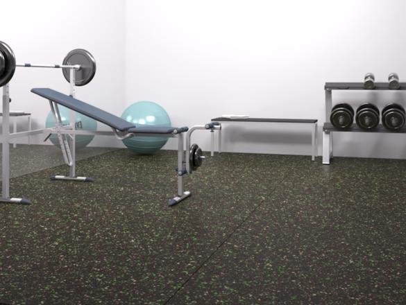 sporto grindų danga gym-cork-rubber