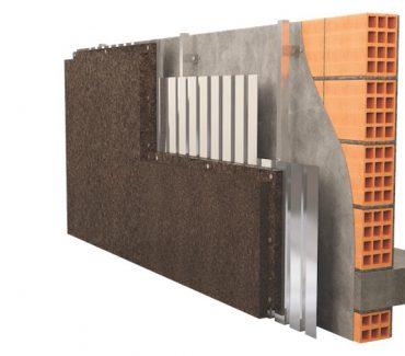 MDFacade Izoliacinis degtas kamštis Ventiliuojamam fasadui