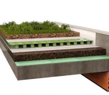 žalias stogas kamštinis